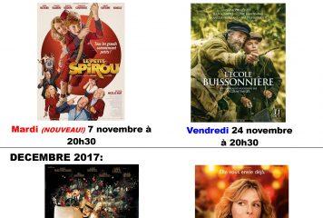 Séances de Novembre à Décembre 2017