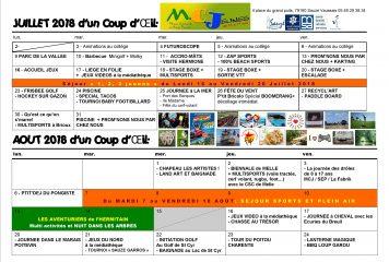MCJ / Programme ÉtÉ 2018