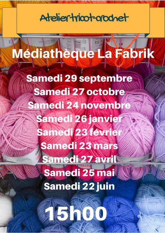 Atelier tricot-crochet 2eme sem 2018