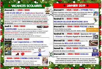 MCJ / Programme Janvier 2019
