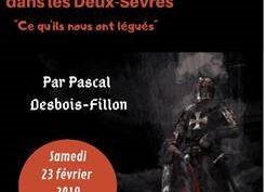 Conférence » Les templiers dans les Deux Sèvres»