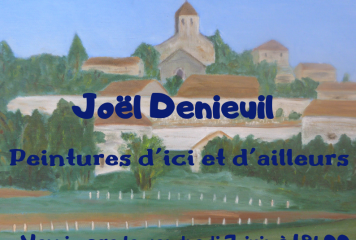 Expo peinture J. DENIEUIL du 1er juin au 6 juillet 2019