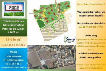 Lotissement du Pré Bourreau                18 € m2